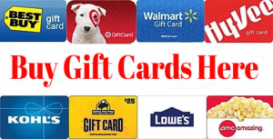 Buy Gift Cards At Cheap Rate.